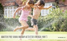 10 Water Activities – No Pool Required from Teachers of Good Things Water Activities, Hands On Activities, Water Play For Kids, Outdoor Learning, Outdoor Play, Holiday Activities For Kids, Kids Part, Summer Fun, Happy Summer