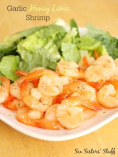 Garlic Honey Lime Shrimp from SixSistersStuff.com