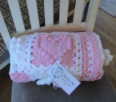 Pink and White Very Soft Acrylic Sampler by AuntieJenniesAttic