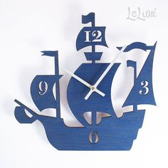 "Love! but its $52... The ""Dread Pirate Roberts"" designer wall mounted clock from LeLuni"