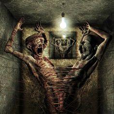 Image detail for -Gothic art gallery - Dark art pictures Arte Horror, Gothic Horror, Horror Pictures, Art Pictures, Art Images, Bizarre Pictures, Bing Images, Gothic Artwork, Dark Artwork