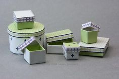 Make Printable Miniature Boxes for a Dolls House Scale Shop Scene: Instructions To Make Miniature Shop Boxes