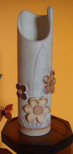Ton Blumen Knospe vase