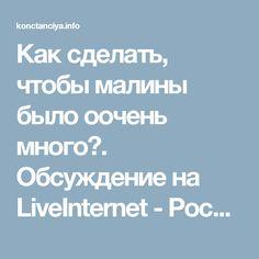 Как сделать, чтобы малины было оочень много?. Обсуждение на LiveInternet - Российский Сервис Онлайн-Дневников