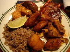 "Latin Food "" Rice, Platanos"