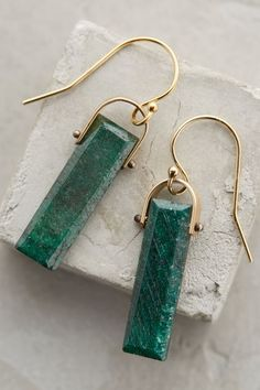 Emerald Lantern Drops - anthropologie.com
