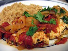Halibut, Fish Recipes, Rice, Chicken, Meat, Recipe Ideas, Food, Eten