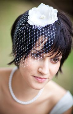 One of these for this short haired bride?