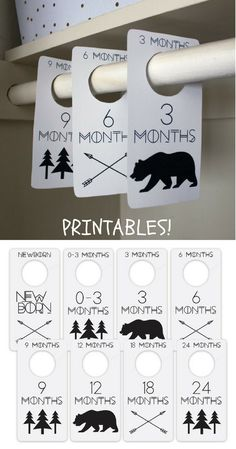 Beautiful closet dividers, perfect for keeping your nursery organised! #ad #nursery