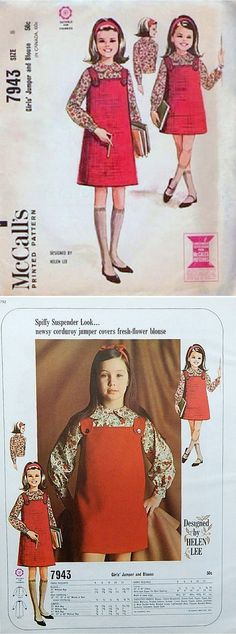 M6793 by Helen Lee, 1963 | Vintage Sewing Patterns for Girls ...