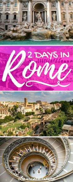 Heading to Rome? Check out this 2 days in Rome itinerary to see all of Rome's best sights, fast! Also learn how to get around, when to go to Rome, and more! #italy #rome #travel #itinerary