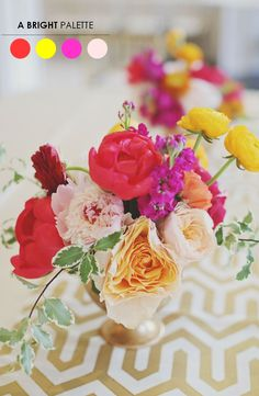 10 Color Inspiring Centerpieces - Bright & Beautiful
