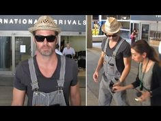 Chris Pine In Bib Overalls Proving Chivalry Isn't Dead At LAX - YouTube