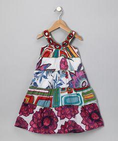 Blanco Floral Yoke Dresss - Toddler & Girls