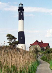 Fire Island Light Great South Bay Fire Island inlet Long Island US Cars aren't allowed, so you walk or bike everywhere. Fire Island, Long Island, Beacon Of Light, Light In The Dark, Best Places To Live, Places To Visit, Lighthouse Photos, Modern Buildings, Modern Architecture