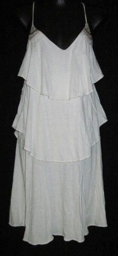 Bid starts at .99 cents  American Eagle Outfitters Large Dress NEW Womens Large Dress Off White CUTE ~~~~