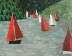 Lac de Guerledan by Mary Newcomb British - self-taught artist (merville) Garden Painting, Impressionist Art, Art Uk, Outsider Art, Whimsical Art, Paintings For Sale, Painting Inspiration, Landscape Paintings, Original Artwork