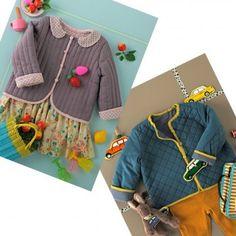 des vestes matelassées à coudre pour enfants, garçon et fille. Patron en ligne (2-4 ans) Sewing Patterns For Kids, Sewing For Kids, Baby Sewing, Baby Couture, Couture Sewing, Textiles, Jacket Pattern, Knitting For Kids, Kids Fashion