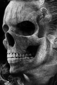 Black & White Magic. Albolutely Amazing Skull Art.
