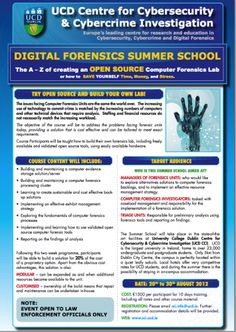 Digital Forensics Summer School Computer Forensics, Criminology, Summer School, All Over The World, Investigations, Nifty, Messages, Education, Digital