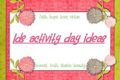 lds activity days ideas