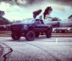 Black Lifted Ford TRuck