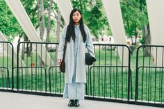 Head to Toe Denim // See more at Racked: (http://ny.racked.com/2015/5/19/8625495/frieze-art-fair-street-style?utm_campaign=ny.racked&utm_content=gallery-post&utm_medium=social&utm_source=pinterest)