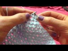 Узор спицами резинка букле - YouTube