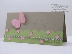 cute use of butterfly punch and stamp
