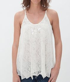 Miss Me Lace Underlay Tank Top at Buckle.com
