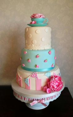 Beautiful wedding cake made by my cousin