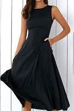 411f81f277 Slim Fit Large Pendulum Skater Dress – Chicokay