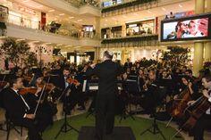 Coctel de lanzamiento para medios de comunicación de La Tienda Vacía en el Centro Comercial Santafé Medellín. Con la presencia de La Orquesta Filarmónica de Medellín