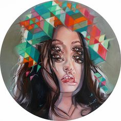 Paintings by Alex Garant . this artists work is very unique and unusual. the unsettling illusion it has on the eyes is hypnotic.