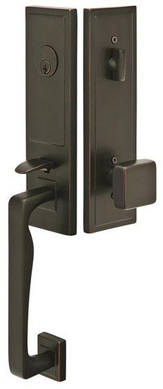 Emtek Door Hardware Zeus Style Modern Tubular Entrance Handleset 1