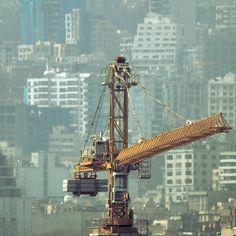 Some views of Tehran #tehran #crane #buildings