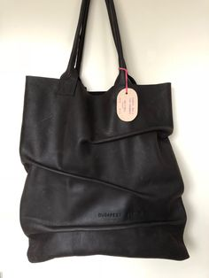 """""""Love your wrinkles"""" leather tote by BudapestBerlin"""