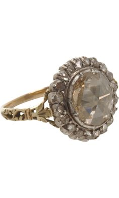 Olivia Collings Antique Jewelry Large Center Cluster Diamond Ring...want this