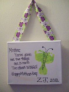 Butterfly footprints for Mothers Day