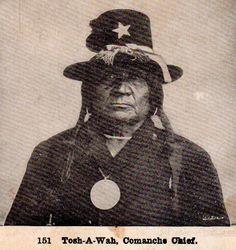 Tosh-A-Wah (aka Silver Broach) - Penateka Comanche - circa 1872
