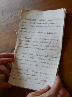 A reproduction of one of Emily Dickinson's fascicle books. (Photo: The Emily Dickinson Museum)