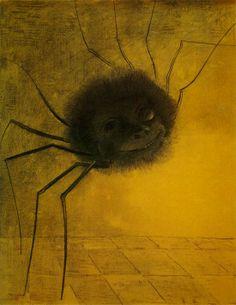 Odilon REDON :: Spider, 1881