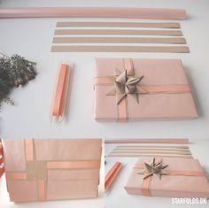 DIY Create beautiful gift decor with paper strips and Froebel stars. Creative Gift Wrapping, Creative Gifts, Christmas Gift Wrapping, Christmas Fun, Gift Wraping, Gift Envelope, Diy Gift Box, Christmas Inspiration, Paper Gifts