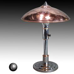 While there were numerous variations within the Guardsman lamp model line after its initial introduction in 1936, this model, with its stepped base, is of exceptional design and would certainly be an important piece in any art deco collection. | eBay!