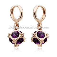 подарки для девочек бесплатная доставка высокое качество красивый 18k позолоченные скор австрийских crystal серьги для женщин US $7.65