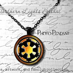 Star wars inspired Imperial Insignia Necklace Starwars jewelry geeky gifts Imperial Empire Darth Vader necklace Imperial Logo photo pendant by NorthernLightsBridal on Opensky
