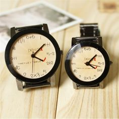 TIMELE MATHEMATICAL EQUATION COUPLE WATCHES | Giftzoo.ca Canada's Online Gift Shop