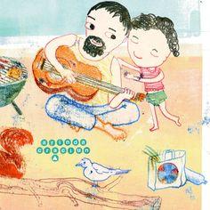 die kleinste #Grillparty für #365doodlesmitjohanna @byjohannafritz mit den Themen der nächsten Tage: Baumstumpf Wasserflasche Muscheln Brathähnchen Einkaufstüte und Liebstes Sommeroutfit! Ende des Monats ziehe ich um und fahre dann auch in den Urlaub also muss ich jetzt gut vorbereiten ;-) Wo fahrt ihr hin? #illustration #monotype #the100dayproject2017 #childrensbooksillustration #kidsillustration #illustration_best #kidlitart #childrensbook #picturebooklover #dadliferules #outdoorcooking…