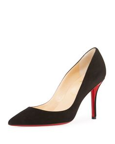 befd7edc882 Christian Louboutin Apostrophy Suede 85mm Red Sole Pump