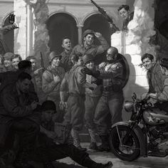 """Early concept art for Captain America the First Avenger - Ryan Meinerding (@ryan_meinerding_art) on Instagram: """"#tbt to Captain America: The First Avenger. In the early days of Marvel Studios I had a lot of time…"""""""